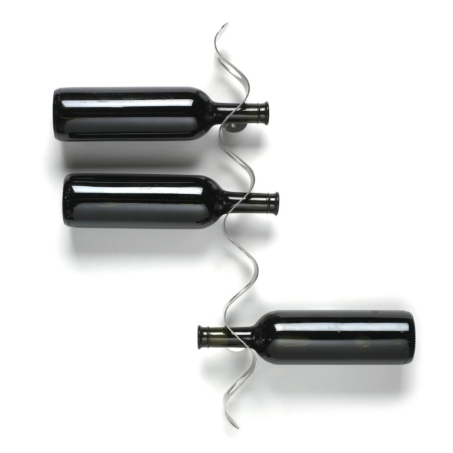 black blum flow wall mounted wine rack lifestyle fancy. Black Bedroom Furniture Sets. Home Design Ideas