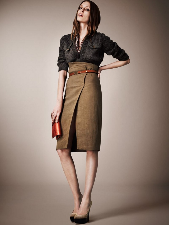 зимняя юбка с запахом фото