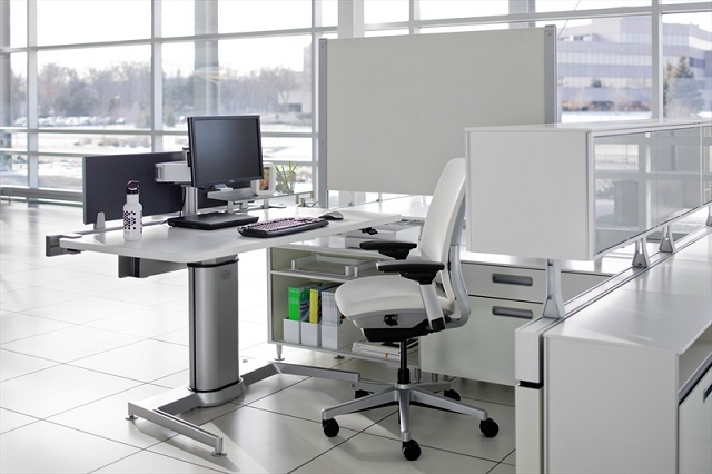 Steelcase Airtouch Height Adjustable Table Lifestyle Fancy