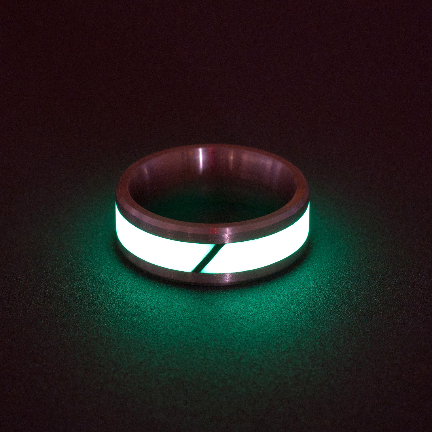 Best deals black badger rings of titanium carbon fiber for Glow in the dark wedding rings