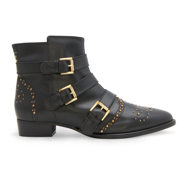 MANGO Studded Leather Ankle Boots   LifeStyle Fancy