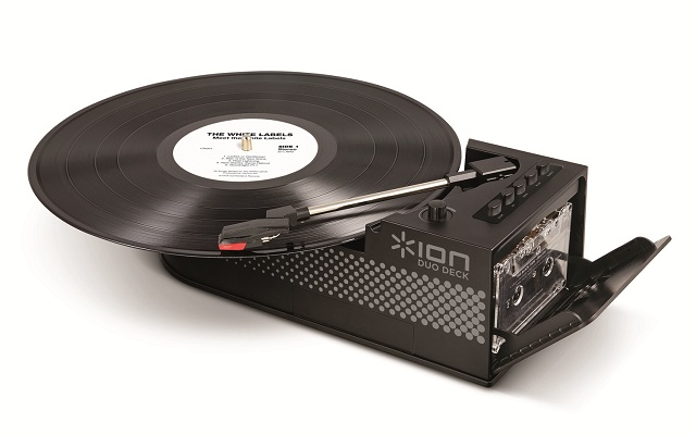Ion Duo Deck Ultra Portable Usb Turntable With Cassette