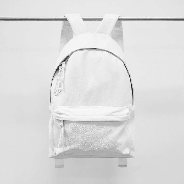 ec1ac1c69e3 Stampd White Leather Backpack | LifeStyle Fancy