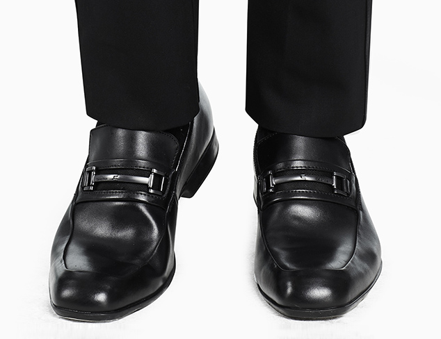 Shoes - Calvin Klein Garner Black Dress Slip-On Shoes - Men