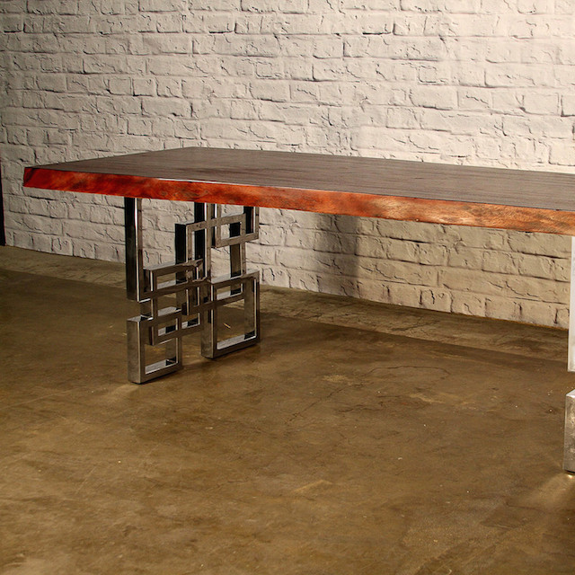 Indo modern cubic cherry dining table 2