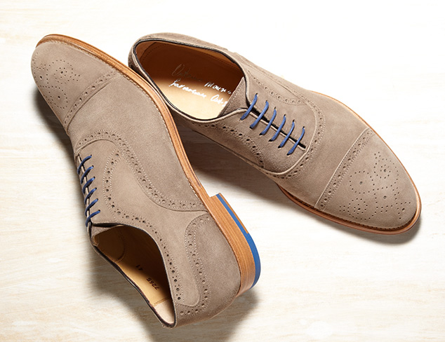 Oxford Shoes- Women's Size 8 Grey Suede and leather.   zoom