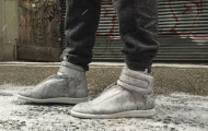 Maison Martin Margiela Cracked Leather Ankle-Strap Sneakers
