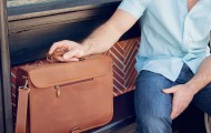 Statement Leather Goods The Executive satchel