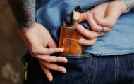 18 Waits Whisky River Flask