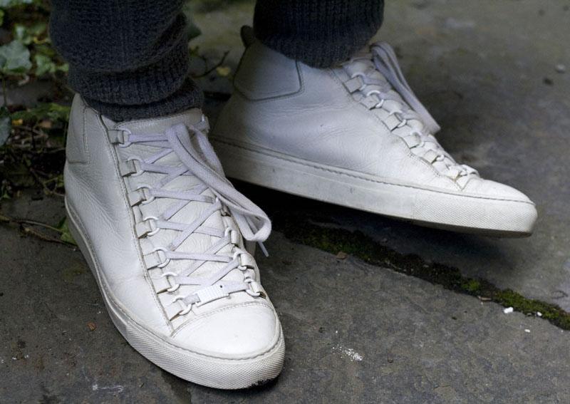 High-Top Sneakers ARENA lambskin white Balenciaga yxxwKtf