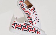Thom Browne Tri-Color Grosgrain Basketweave Sneakers