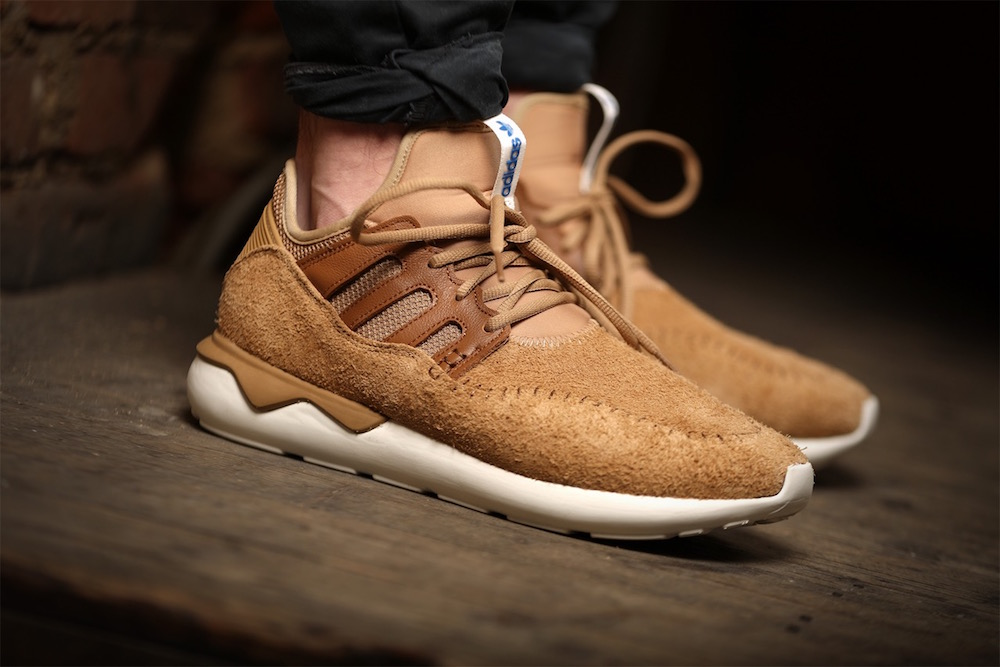 on sale e7d09 3b586 adidas Tubular Moc Runner Shoes in Cardboard/Timber ...