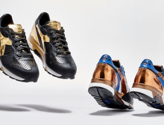 BNY Sole Series: Diadora Perforated-Detail Leather Sneakers