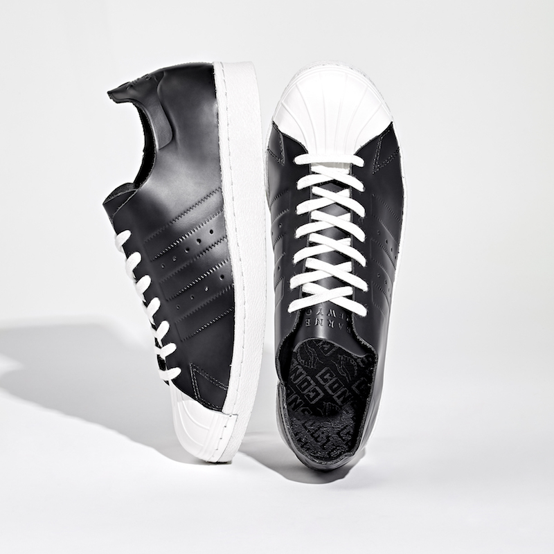 BNY Sole Series adidas Superstar 80s Deconstructed Leather Sneakers