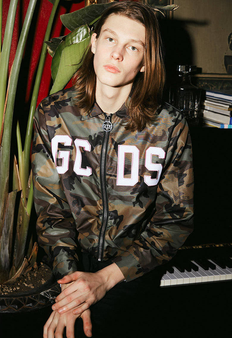 GCDS Camouflage Printed Nylon Jacket