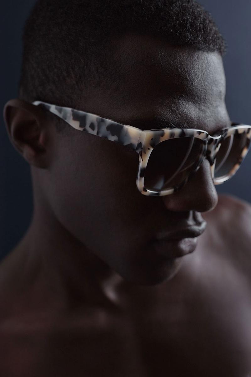 AMI Tortoiseshell Square-Frame Sunglasses