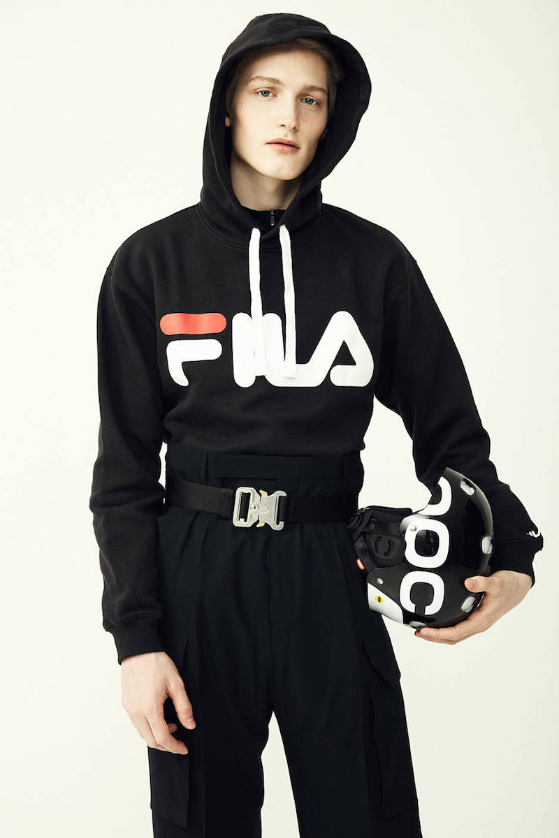 Fila Urban Logo Hooded Cotton Blend Sweatshirt